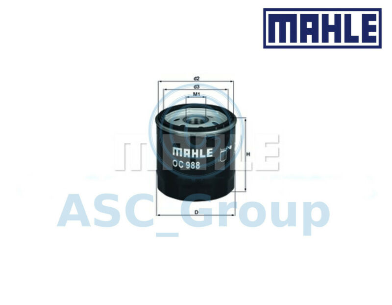 Genuine MAHLE Replacement Screw-on Engine Oil Filter OC 988 OC988