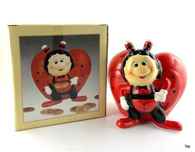 Marienchen Figuras Corazón Bonita Hucha Ladybug Cerámica 9cm Alto Buen Precio
