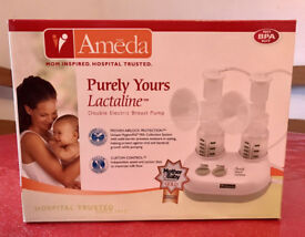 DUAL BREAST PUMP AMEDA LACTALINE WITH EXTRAS ONLY USED FOR THREE WEEKS