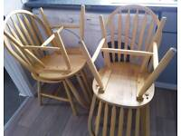 Set of 4 wooden dining chairs