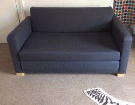 Two seat IKEA sofa&bed dark blue colour