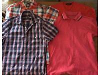 Bundle Of size M men's t-shirts / shirts & a jumper
