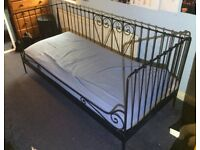 BLACK IKEA METAL FRAMED DAY BED - Price reduced