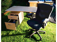 MATCHING HOME STUDY OFFICE COMPUTER WORKSTATION • DESK • CAROUSEL • TALL FILING CABINET from £45