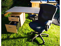 MATCHING HOME STUDY OFFICE COMPUTER WORKSTATION • DESK • CAROUSEL • TALLBOY FILING CABINET FROM £45