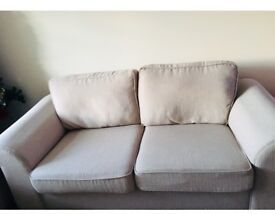 3&2 seater natural DFS sofas. Fairly used and still clean