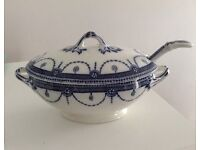 'Venice' Royal Semiporcelain Tureen and ladle by Wood & Sons