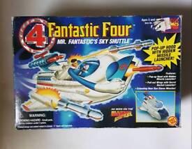 Fantastic four sky shuttle marvel figure 1980s