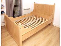 IKEA HURDAL DOUBLE BED FRAME