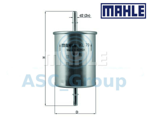 Genuine MAHLE Replacement Engine In-Line Fuel Filter KL 79
