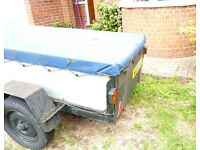 Metal Braked Car Trailer 8ft x 4ft - Excellent Useful Workhorse