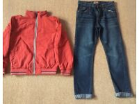 Next Red Boys Jacket & Jeans 10 Years - Worn Once - Both For £15