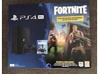 PS4 Pro 1TB Fortnite Battle Royale Bundle Console Brand New Sealed