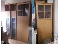 IKEA bookcases cabinet & dvd/cd storage