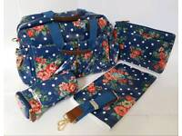 New Changing Bag - Blue Flower Print