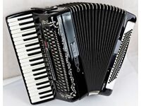 Bugari Armando Seniorfisa Accordion - 120 Bass - 4 Voice Musette with MIDI - Super Instrument