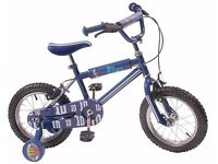"(2145) 14"" LAZYTOWN GO KIDS Boys Girls Kids Childs Bike Bicycle; Age: 3-5; Height: 95-110 cm; Blue"