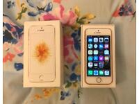 Unlocked Apple IPhone SE 32GB in Rose Gold with Box not 5S 6 6s 7