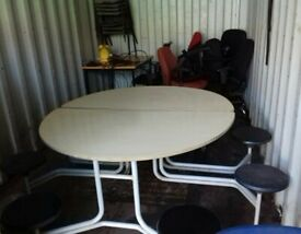 Primo 8 Seat Round Mobile Folding Table - Free Local Delivery