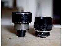 Nikon Nikkor 135mm F2 Prime Lens, Faulty, Broken, Spares/ Repairs