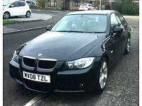 BMW 320d m sport, black, 2008