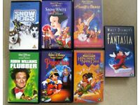 Walt Disney - VHS tapes X7 - Animated and Live Action