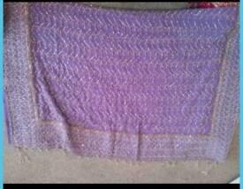 Lilac asian saree