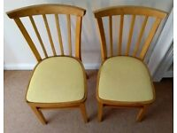 2 x vintage 50's / 60's bentwood kitchen chairs