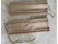 Taupe Blackout Roman Blinds with brackets included