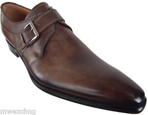 FRANCESCO BENIGNO MONK STRAP LOAFERS UK 10 ITALIAN DESIGNER MENS SHOES