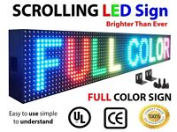 LED Shop Sign Scrolling Advertising Bright Full-Single Colour-Multicolour USB Programme