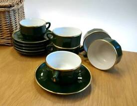 Apilco breakfast cups & saucers set.