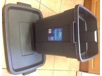 Curver big plastic crate with lid