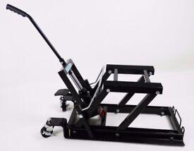 Hydraulic motorbike lift