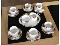 1962 Royal Albert, Old Country Rose's, Bone China Tea Set, Like New, £95 ono.