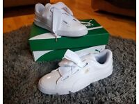 Womens Puma Basket Heart Patent White Trainers, Brand new and Unworn, Size 7 uk