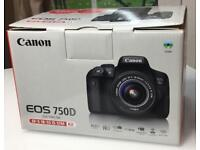 BARGIN!! CANON EOS 750D with Lens & 64gb SD Card