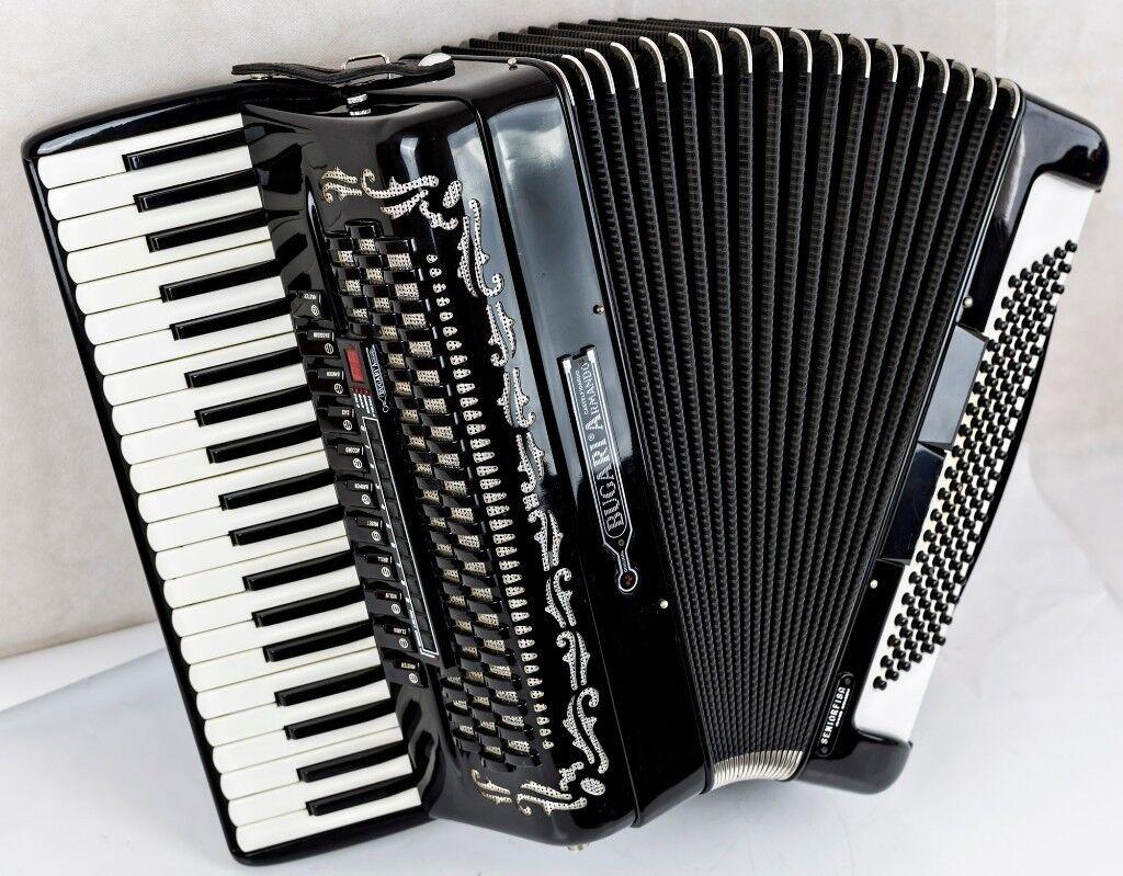 Bugari Armando Seniorfisa Accordion - 120 Bass - 4 Voice Musette with MIDI