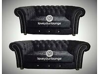 BRAND NEW CRUSHED VELVET DIAMANTE 3+2 SOFA DELIVERY NATIONWIDE CHEAPEST ON LINE