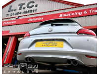 VW Scirocco fitted with Proflow Duel Rear Exhaust System (No Boxes)