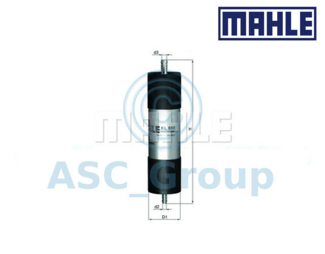Genuine MAHLE Replacement Engine In-Line Fuel Filter KL 658