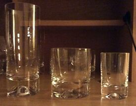 Dartington crystal wine glasses and tumblers
