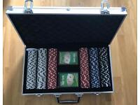 300 Piece Poker Set (4 sets of chips) + 2 packs of cards - Never been used before