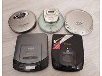 TECHNICS SONY PHILIPS SABA 5 x Retro Discman Personal CD Player Bundle