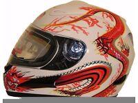 Brand New Ex Demonstration Stock liquidation Q-Tech Full Face Motorbike Motorcycle Bike Helmet