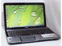 """Toshiba L855 15.6"""" Business Laptop: Core i7 Quad, 12GB RAM, 256GB SSD"""