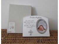 Impression 'On Your Baptism' Christening photo frame BNIB