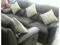 Ex showroom scs leather reclining suite delivery free