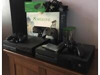 2X XBOX ONE + 6 GAMES + 3 CONTROLLERS BOXED BARGAIN BUNDLE MUST SEE LOOK !!!