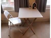 Habitat folding table and 1 chair